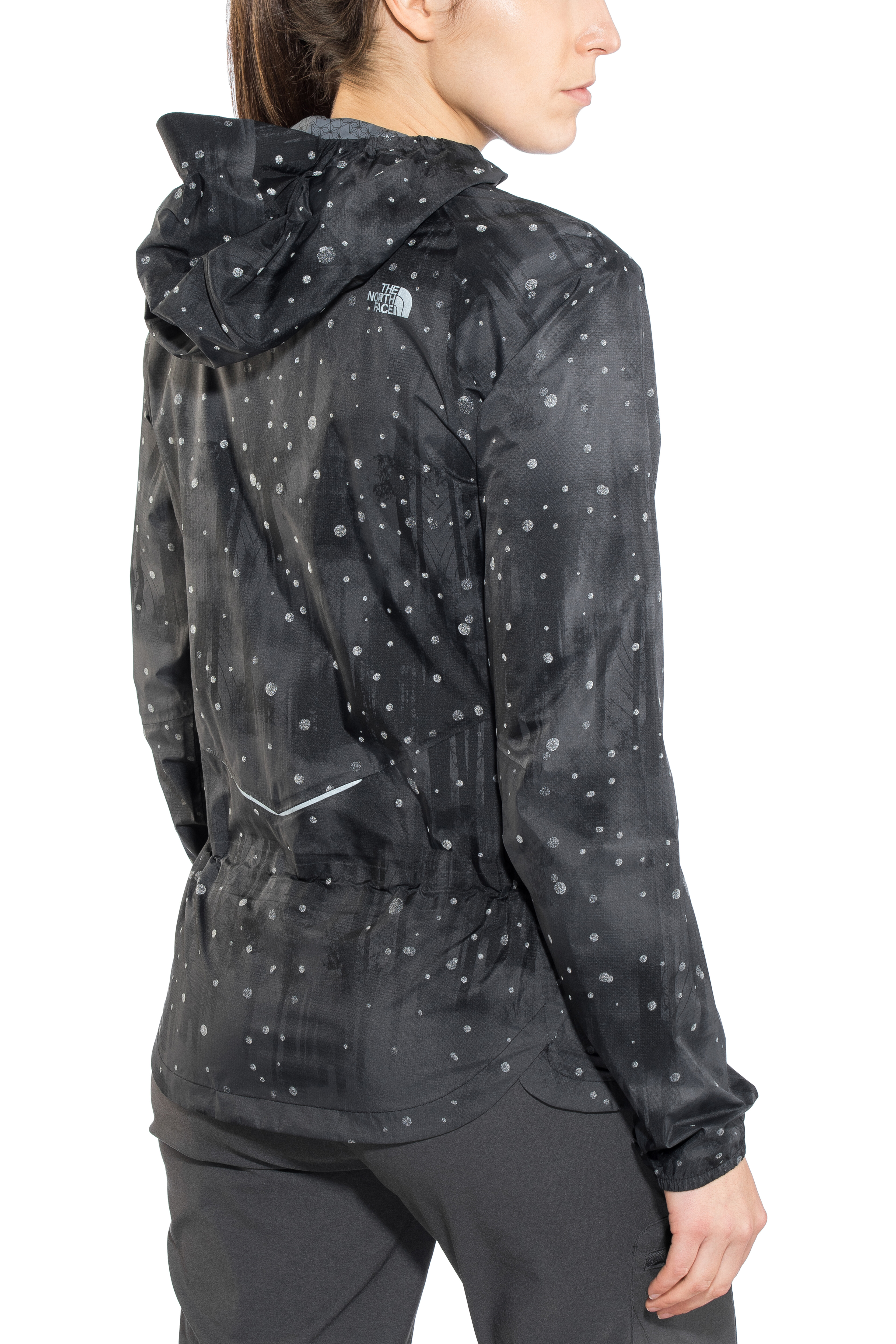 1c966a097 The North Face Stormy Trail Jacket Women tnf black reflective firefly print